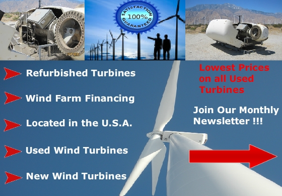 Used Wind Turbine Newsletter Sign-up